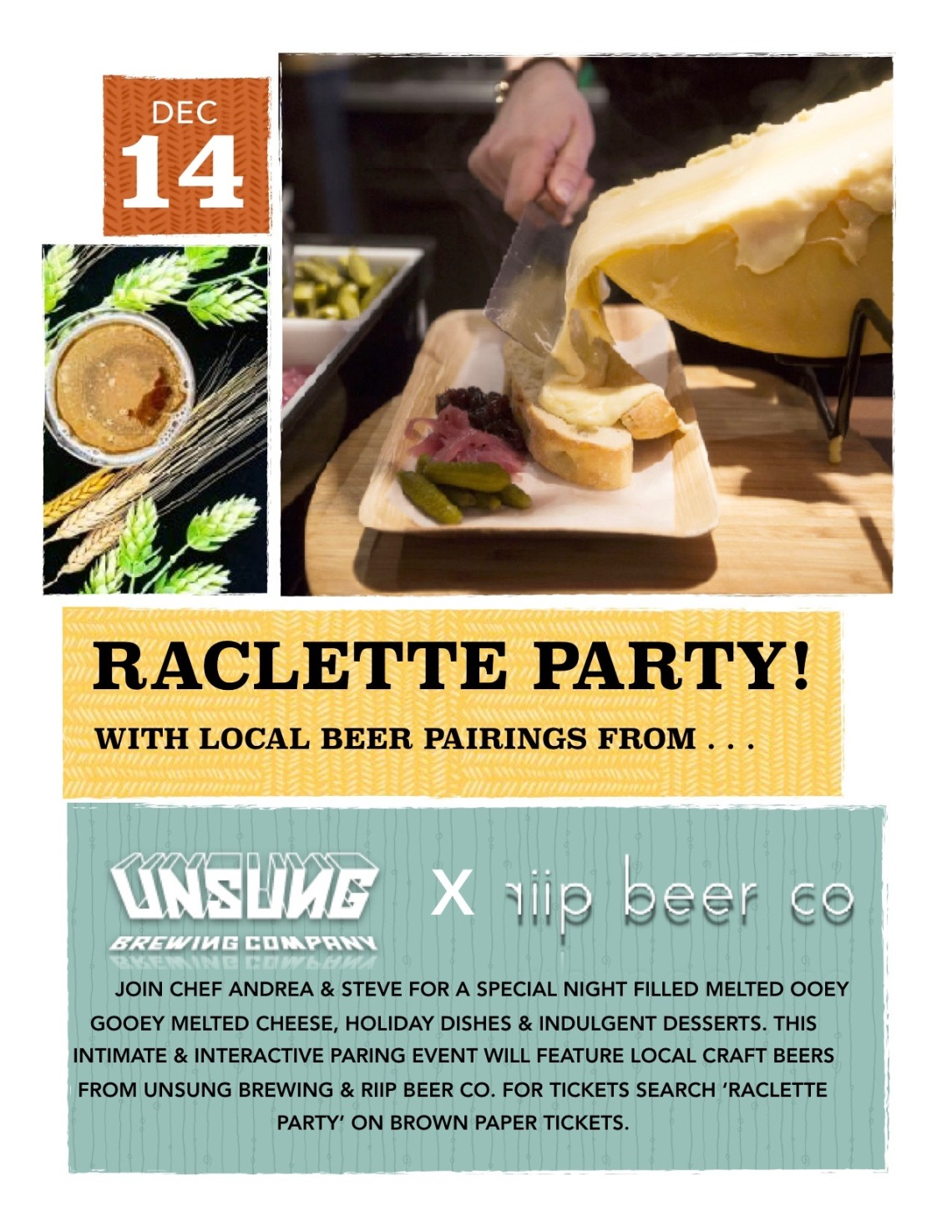 Raclette Party Flyer